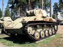 A Soviet T-70, on display at the Parola Tank Museum - Finland.