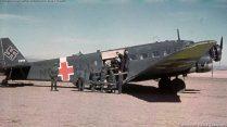 Junkers Ju 52 with red Balkenkreuz.