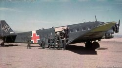 Junkers Ju 52 with red Balkenkreuz.