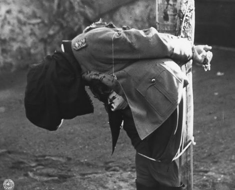 Dostler's body immediately after.