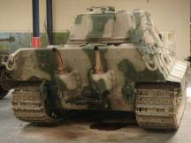 Rear End of the Tiger 2 at the Musée des Blindés - Tank Museum - France.