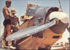 Bf 109 servicing.