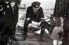 Heinrich Lehmann-Willenbrock als Chef der 9. U-Bootflottillein Brest.