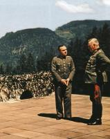 General Walter Warlimont with Generalfeldmarschall Wilhelm Keitel at the Berghof.