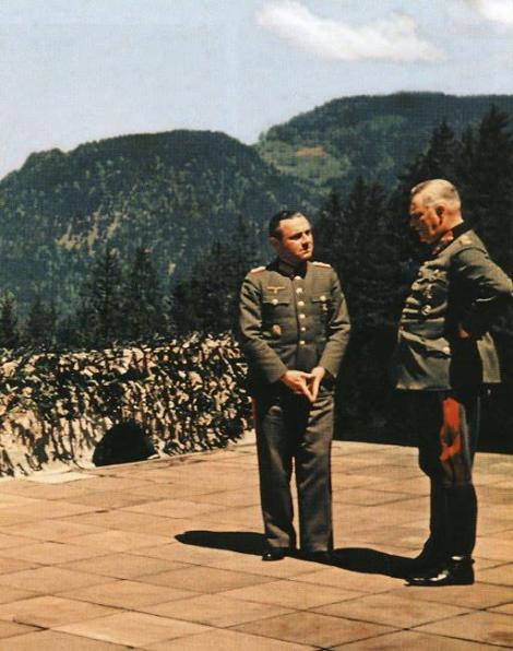 General Walter Warlimont with Generalfeldmarschall Wilhelm Keitel at the Berghof.