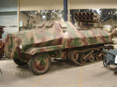 Panzerwerfer mounted on armored Maultier at the Musée des Blindés - Tank Museum - France.