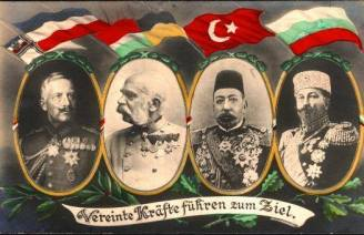 WW1 Austro-Hungarian post cards, A&H, German, Turkish, & Bulgarian friendship.