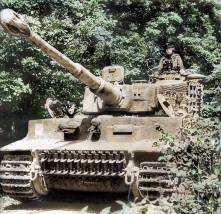 SS Unterscharführer Kurt Kleber in his Panzer VI Tiger I N232of 1. SSPz. Korps Leibstandarte Adolf Hitler2. Kompanie der SSPz. Abt.101France. June 1944.