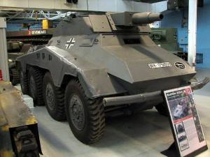 Sd.Kfz. 234-3 with 75 mm L/24 at the Bovington Tank Museum- England.