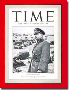 Field Marshal Wilhelm List on the cover of Time, 24th of March 1941.