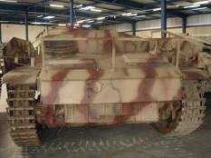 Back end of the StuG 3 at the Musée des Blindés - Tank Museum - France.