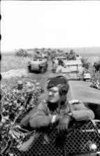 Motorized troops of the Panzergrenadier Division Grossdeutschland.