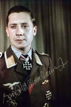 Ernst-Wilhelm Reinert after receiving Oak Leaves.