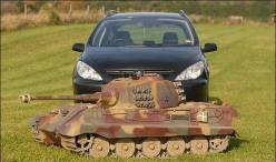 Tiger 2 RC. My sources tell me that this ' toy' cost $10,000 USD and weighs 550lbs (250KG).