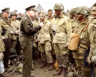 Eisenhower and the paratroopers on D-Day.
