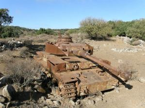 Leftover wrecked Panzer IV.