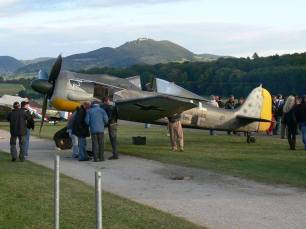 Great photo of the Focke-Wulf Fw 190 and the background.