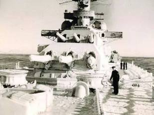 Cold winter on the Battleship.