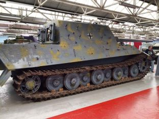 Jagdtiger at the The Bovington Tank Museum.
