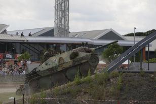 Hetzer at Tankfest 2014 at the The Bovington Tank Museum - England.