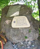 Memorial at the site where Rommel was forced to take his own life near Herrlingen, Baden-Württemberg.