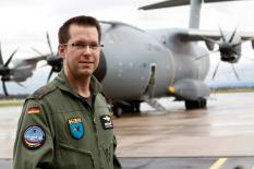 OTL Christian Schott flew the first A400M from Seville to Wunstorf.