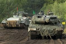 Marder and Leopard main battle tank.