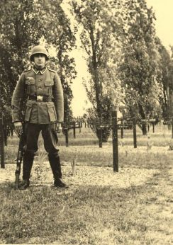 Guarding graves.