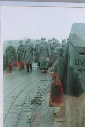 Field Marshall Rommel inspecting work on the Atlantic Wall.