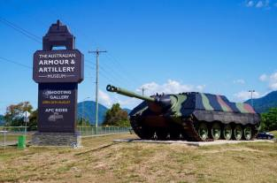 Kanonenjagdpanzer Cold War era tank destroyer of West Germany outside The Australian Armour and Artillery Museum.
