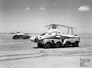 Sd.Kfz. 232 Schwerer Panzerspähwagen captured in North Afrika.