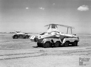 Sd.Kfz. 232 Schwerer Panzerspähwagen captured in North Afrika.