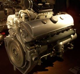 The 300 horsepower Maybach HL 120TRM engine used in most Panzer IV production models.