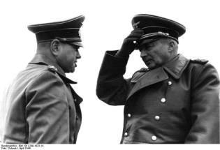 Field Marshall Gunter von Kluge on right.
