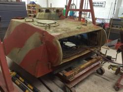 Panther - turret removed and undergoing refurbishment.
