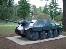 Hetzer tank destroyer at the Base Borden Military Museum, Ontario, Canada.