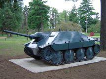 Hetzer tank destroyer at the Base Borden Military Museum, Ontario, Canada.