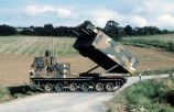 MLRS during the maneuver REFORGER '85 in Germany.