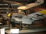 Bf 110 Werk Nr. 5052, Deutsches Technikmuseum Berlin. The noseart emblem on this aircraft is the dachshund of 10.(Z)/JG 5.
