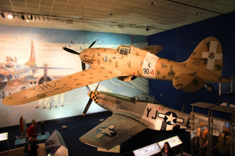 Macchi C.202 and P-51D Mustang.