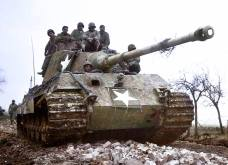 This Panzer VI 'Tiger II' from the 2.Kompanie, Heavy Panzer Battalion (schwere Panzer Abteilung) 506 was captured by American troops and restored to a running condition by company.
