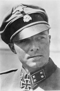 SS-Standartenführer Joachim Peiper, commander of the 1st SS Panzer Regiment LSSAH. He is shown here as a SS-Sturmbannführer.