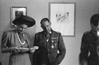 Dietrich with his wife Ursula.