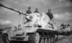 """This Marder II (Sd. Kfz. 131) was nicknamed """"Kohlenklau"""" (Coal thief), after a propaganda caricature which was very popular in Germany from 1942 onward."""