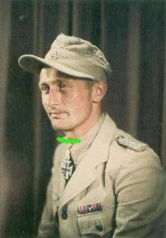 Johannes Steinhoff wearing Luftwaffe tropical uniform.