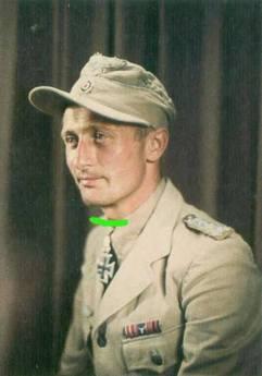 Johannes Steinhoff wearing Luftwaffe tropical uniform.