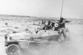 "Rommel amidst advancing units in his Sd.Kfz. 250 command vehicle ""GREIF"" (Engl. 'Griffin')."