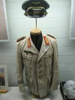 Rommel's desert uniform displayed at the German Tank Museum in Münster.