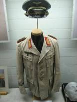 Rommel's desert uniform displayed at the German Tank Museum in Münster.