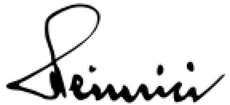 Gotthard Heinrici signature.
